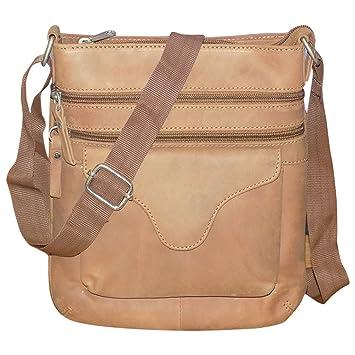 Style98 100% Genuine Real Hunter Leather Unisex Crossbody Passport Sling Bag  for Men 8f2229f995d88
