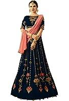Surat4Fashion Women's Silk Blue Lehenga Cholis (HR1012_Blue_Free Size)