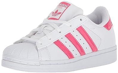 adidas Originals Superstar Jungen Sneaker, Weiß WhiteReal