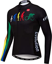Weimostar Men s Cycling Jersey Long Sleeve Sports Wear Bicycle Cycle Bike  Shirt Top ad6d4ef48