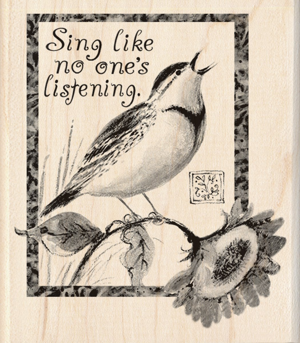 Inkadinkado Wood Stamp Sing Like No Other Bird