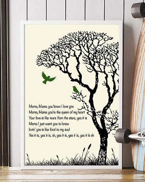 Amazoncom A Song For Mama Lyrics Portrait Poster Print 12