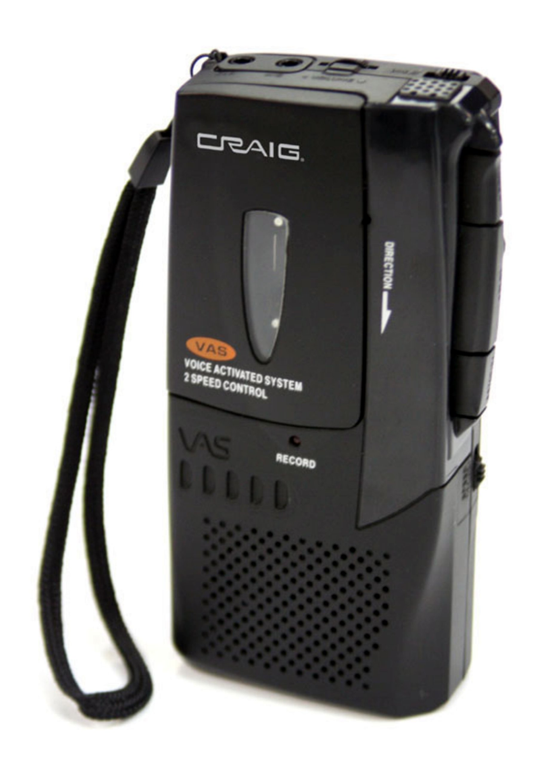 Craig Micro Cassette Voice Recorder with LED Recording Indicator (CR8003) by Craig Electronics