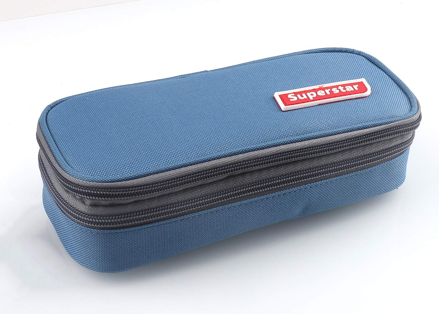 HILUCKI Pencil Case Pen Marker Bag Pouch Holder Box Large Capacity Stationery Organizer with Two Compartments for School Office Student Adults