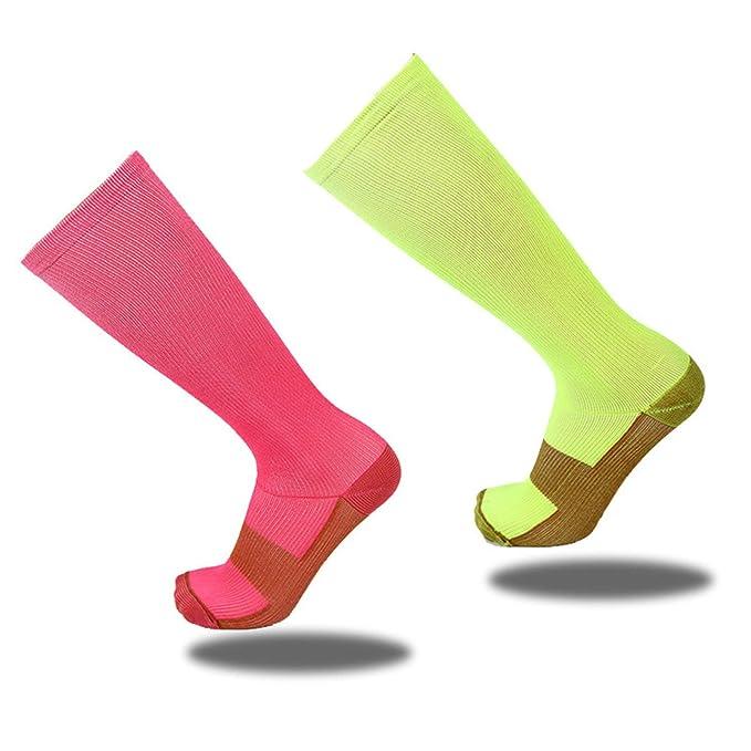 Calcetines Hombre GYM Fitness Calcetines Running Calcetines Largo 10Par Amarillo: Amazon.es: Ropa y accesorios