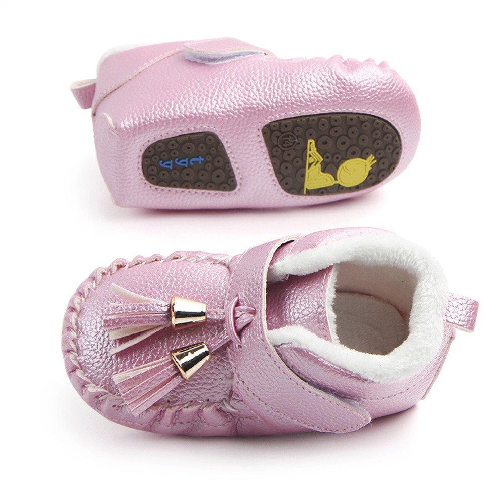 Newborn Girls Boys Shoes HEHEM Newborn Infant Baby Tassel Warm Sneaker Anti-Slip Soft Sole Toddler Shoes Toddler Boys Infant Boots Baby Walking Shoes Infant ...