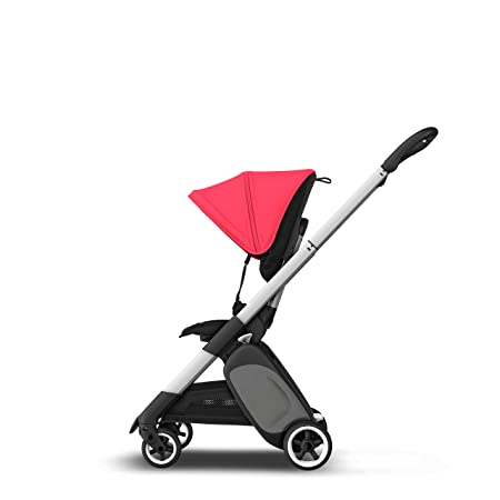 Bugaboo Ant, carrito ligero de viaje con plegado compacto, se convierte en un carrito, negro/rojo neón