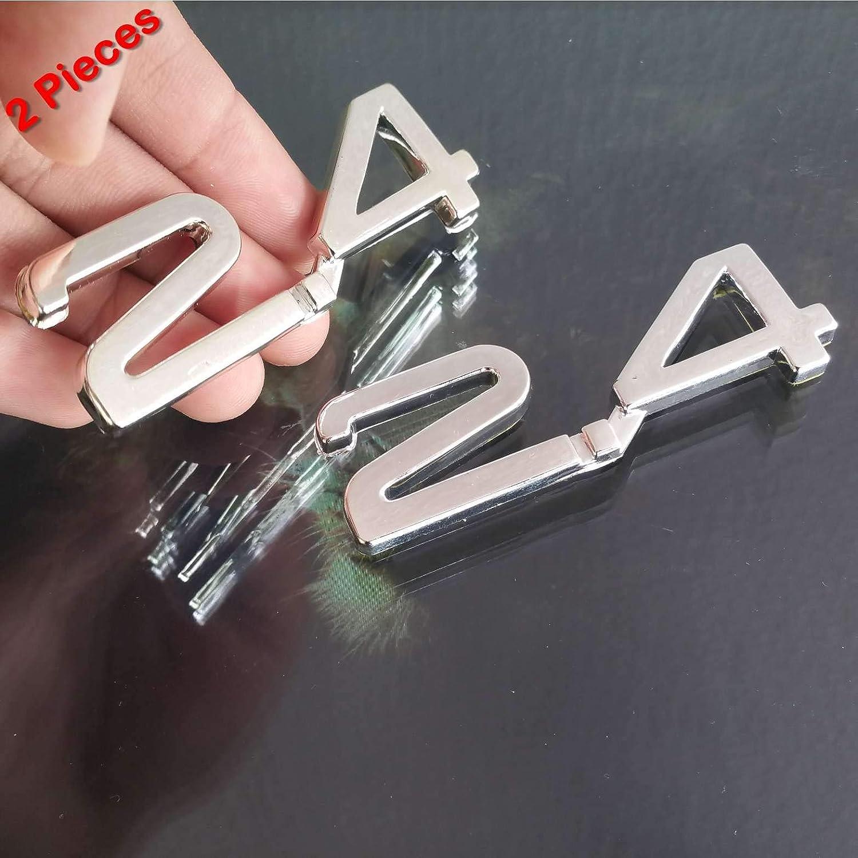 2.4 2400Cc 2.4L 3D Chrome Car Badge Decal Emblem Trunk Side Logo Replacement Auto Adhesive Sticker Abs Insignia 2 Pieces SAISDON 7004