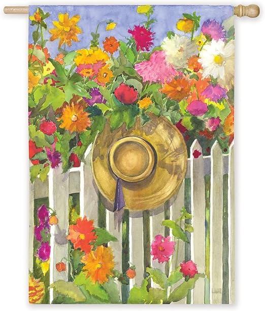 Primavera reflexiones de seda flores jardín bandera de tamaño: Amazon.es: Jardín