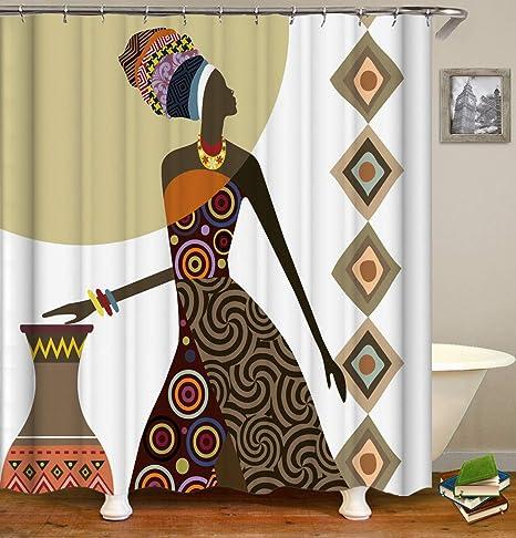 hdrjdrt Vintage Cercle Jaune Peau Noire Femme Africaine Vase ...