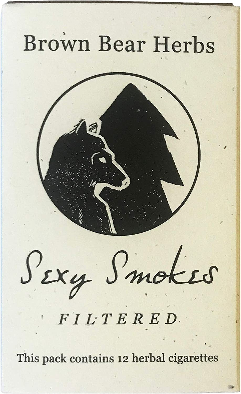 Brown Bear Herbs Sexy Smokes Organic Herbal Smoking Blend, Filtered, NO Tobacco, NO Nicotine, USA