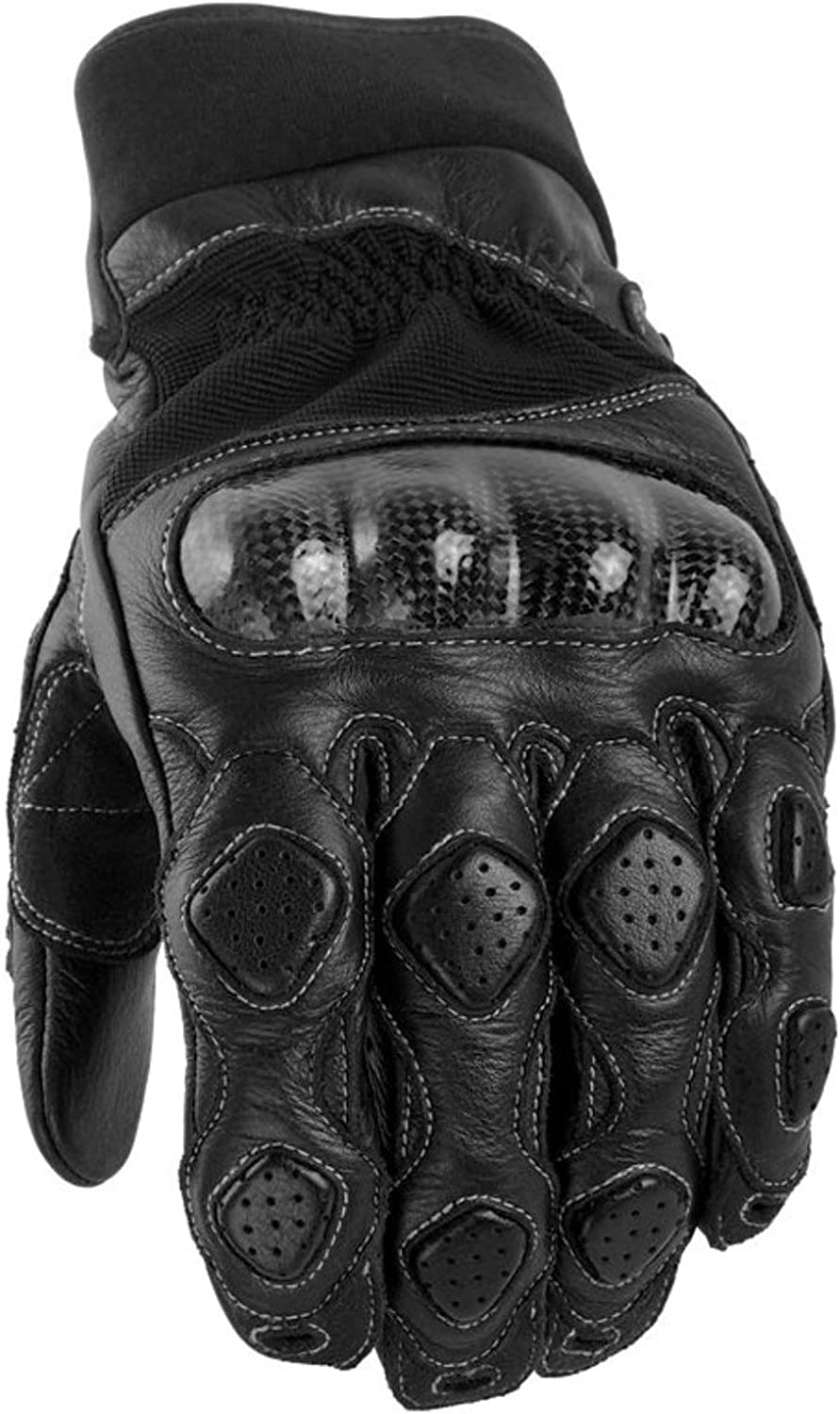 Black, X-Large Power Trip Grand National Mens Motorcycle Gloves