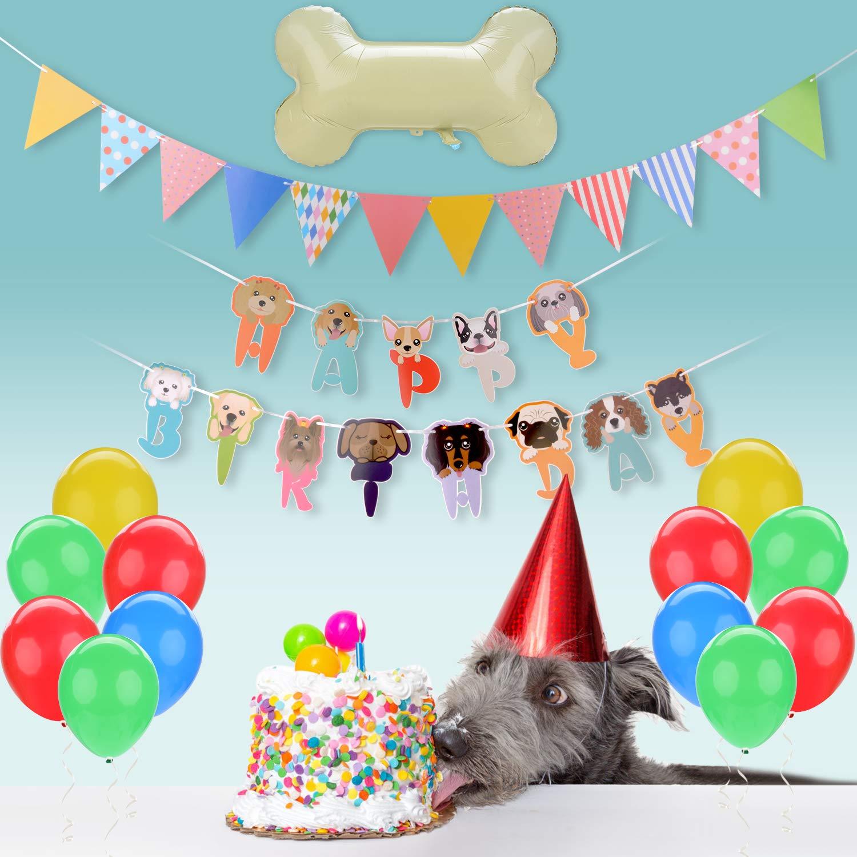 Legendog Dog Birthday Party Supplies, Dog Girl or Boy Birthday Party Decorations, Dog Party Decorations with Bone Balloon, Happy Dog Birthday Party Decorations