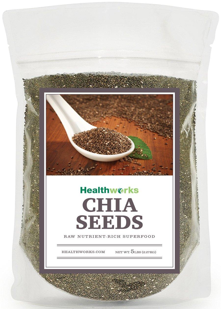 Healthworks Chia Seeds Raw Pesticide-Free, 5lb