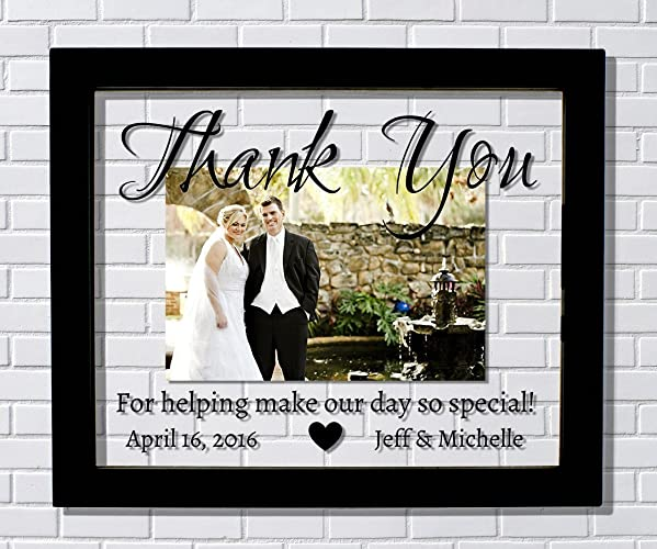 Amazon.com: Thank You Wedding Frame - Floating Frame - Thank You For ...