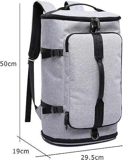 Sac Randonn/ée Sac a Dos Seau 30L Voyage Sac Cylindrique Trekking Impermeable Grand Capacit/é Bagage Backpack pour Homme Femme Gris