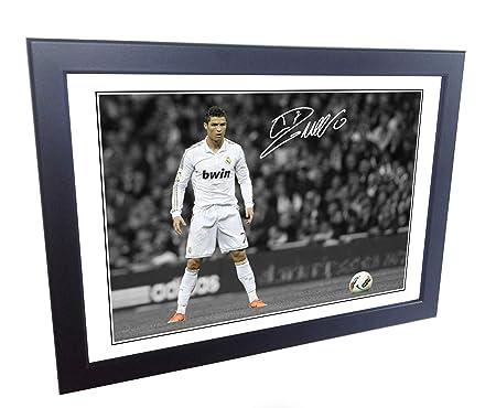 new product e23b2 4e80f 12x8 A4 Signed Cristiano Ronaldo The Freekick Real Madrid ...