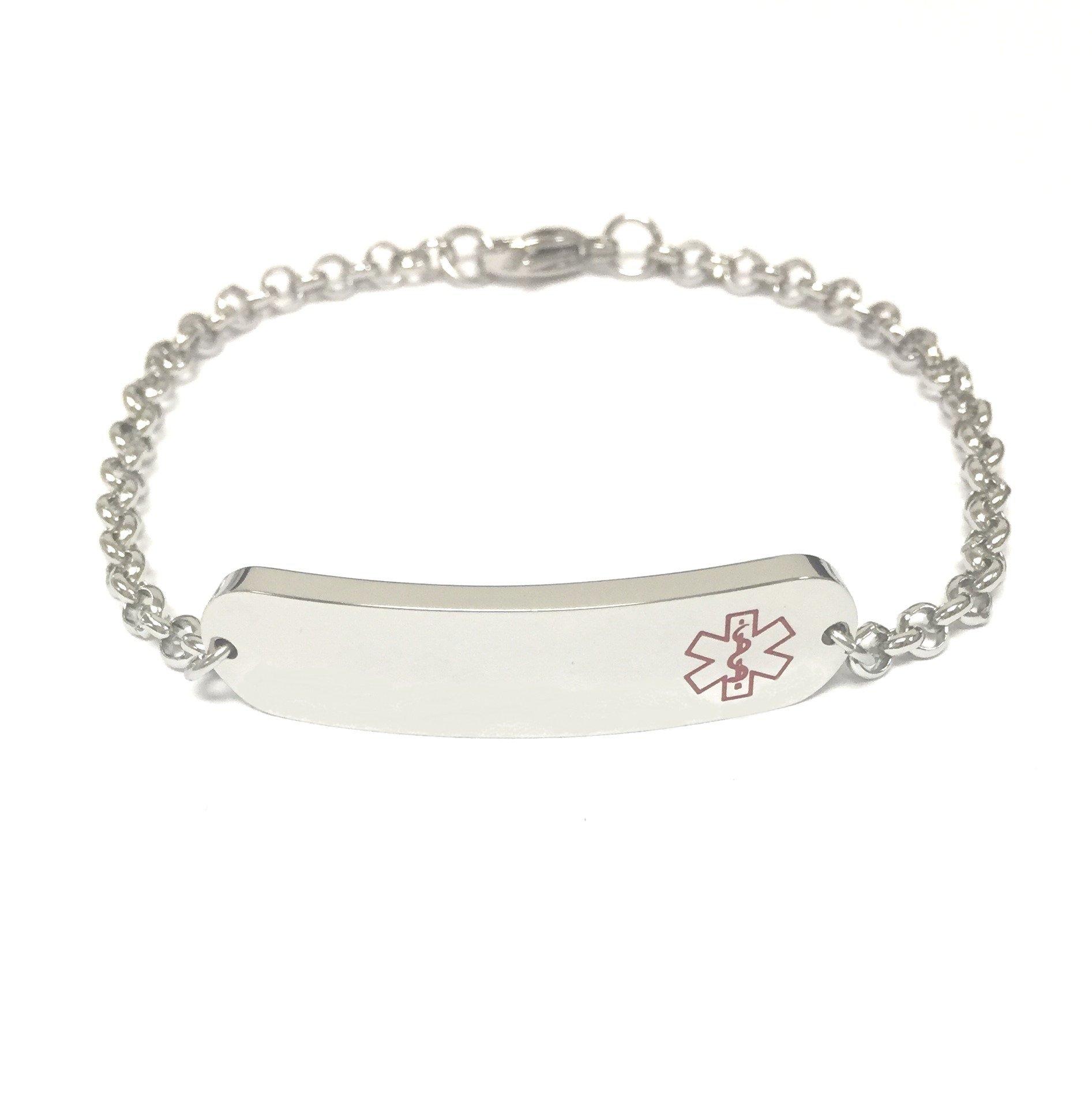 TravelJewelry.com Stainless Steel Medical Bracelet