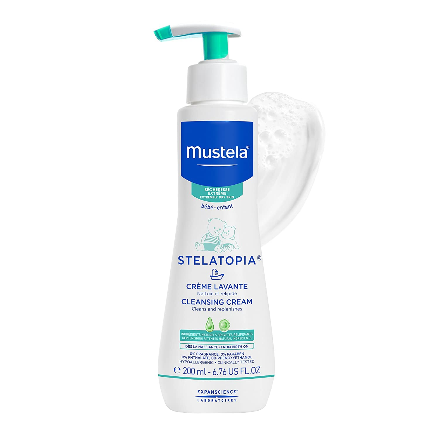 Mustela Stelatopia Cleansing Cream Baby Body Wash For Holiday Series Paris Im In Love 200ml Extremely Dry To Eczema Prone Skin Fragrance Free 676 Fl Oz Luxury Beauty