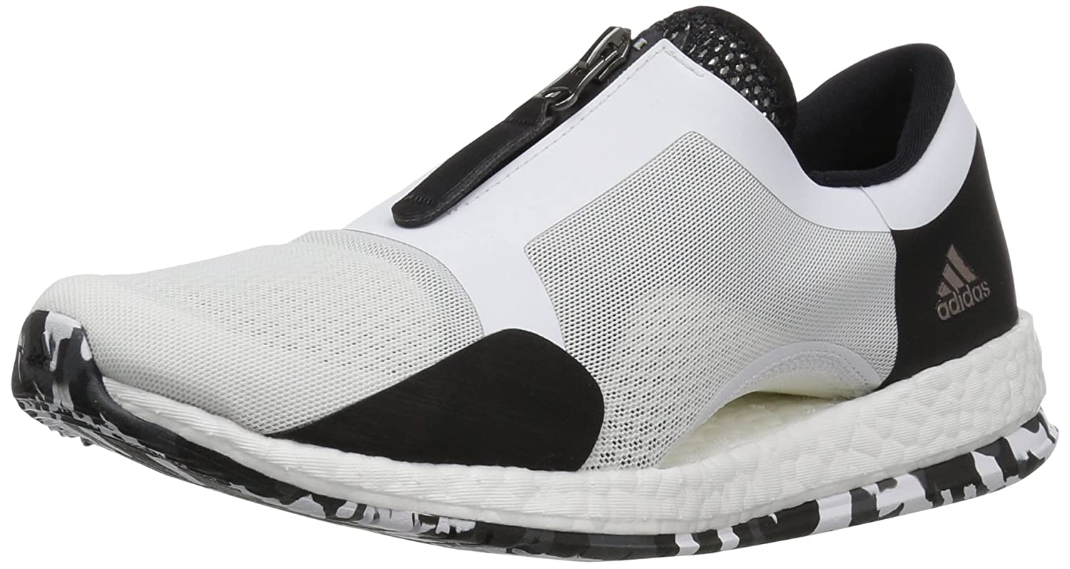 3e087eb57 adidas Performance Women s Pure Boost X TR Zip Cross-Trainer Shoe  White Black Dark Grey Heather 7.5 B(M) US  Amazon.in  Shoes   Handbags