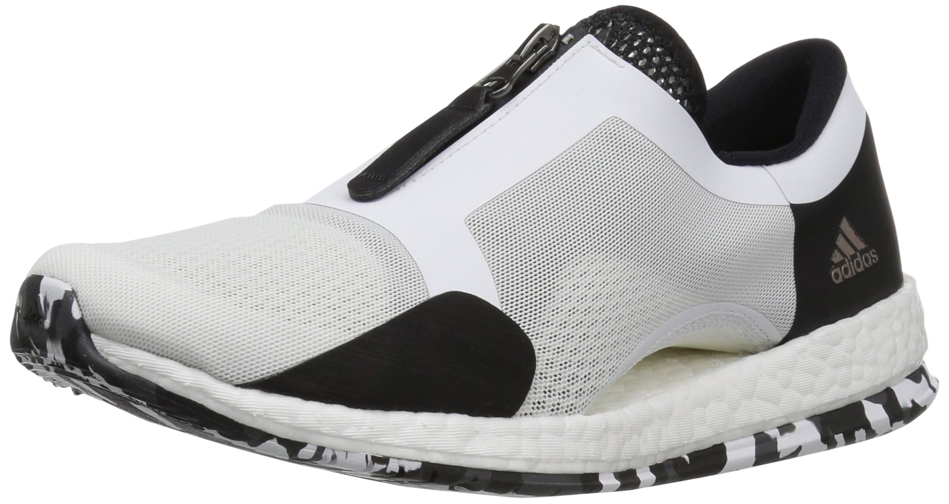 pretty nice 014ba 2eac7 adidas Women's Pure Boost X TR Zip Cross-Trainer Shoes White/Black/Dark  Grey Heather (9.5 M US)