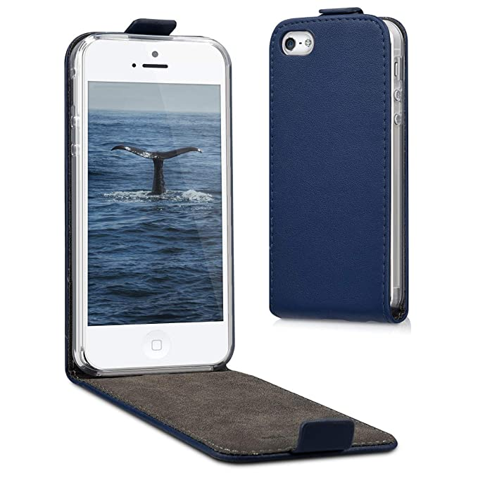 coque iphone 5 clapet bleu