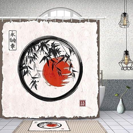 vrupi Nueva York Pintura Japonesa Samui Cortina Ducha árbol ...