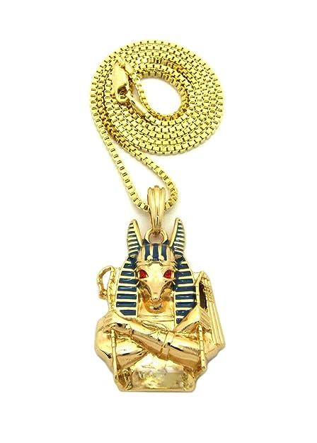 Fashion 21 egyptain god anubis pendant 24 various chain necklace fashion 21 egyptain god anubis pendant 24quot various chain necklace gold tone 3 aloadofball Images