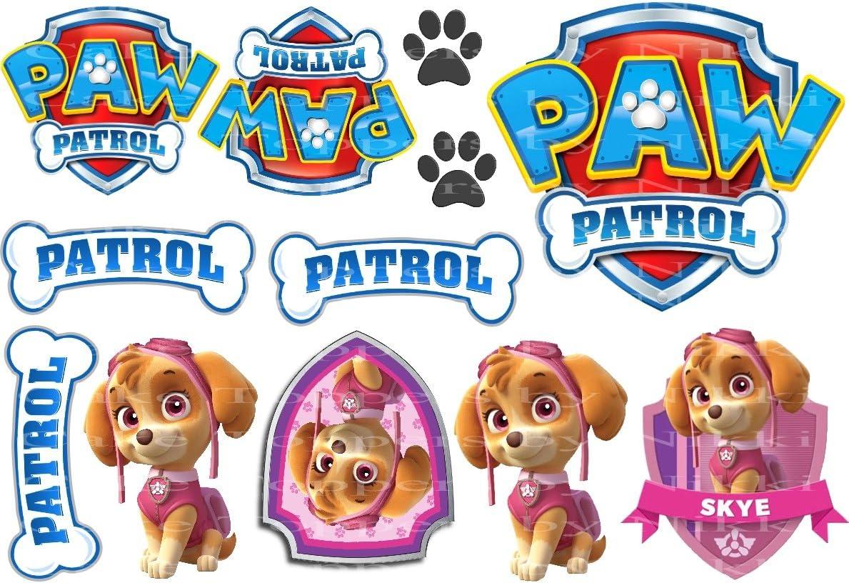 Edible Skye paw patrol personalised fondant Skye. Skye Paw Patrol Cake Topper