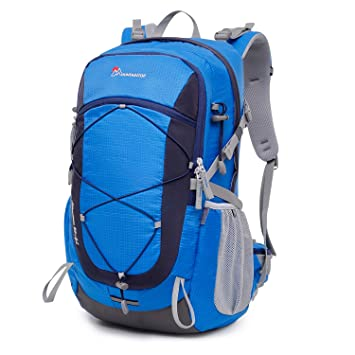 MOUNTAINTOP 40 Liter Unisex Hiking Camping Backpack (Blue1)  Amazon ... c5f73a4c0e8bb
