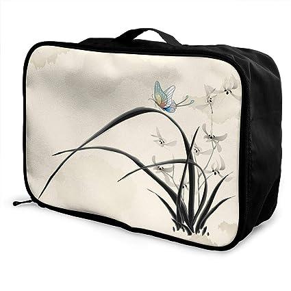 9cb01559b35c Amazon.com: Mintslove Fashion Portable Luggage Bag Chinese Painting ...