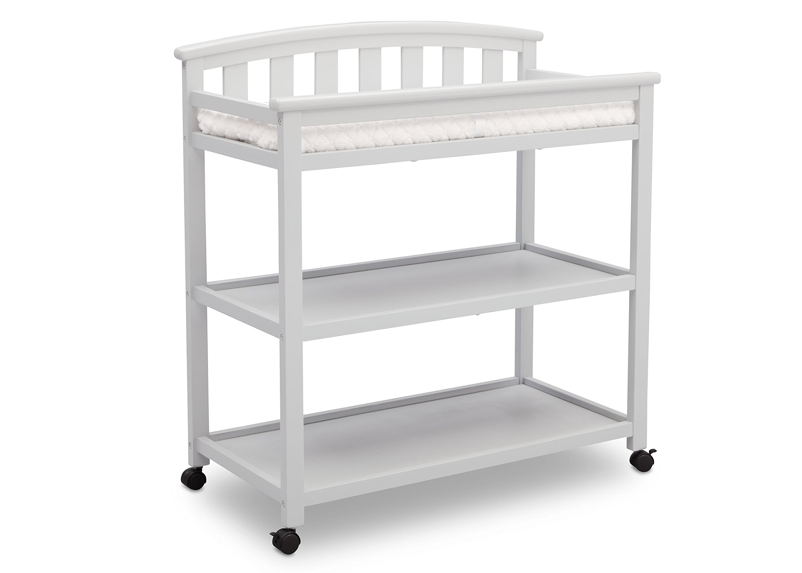 Delta Children Arch Top Changing Table with Casters, Bianca White by Delta Children