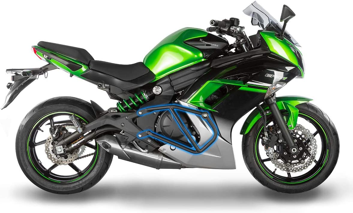 Orange Hunter-Bike Motorcycle Frame Slider Aluminum Anti Crash Protector for Kawasaki Ninja 650 ER6N ER6F 2012-2016