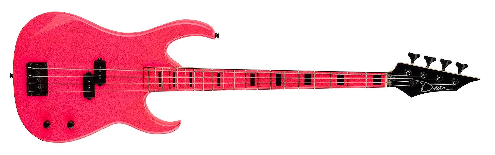 Dean Custom Zone Bass, Flourecent Pink