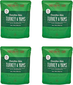 Portland Pet Food Company – Natural Wet Dog Food Pouches – Human-Grade, Gluten-Free Mixer or Dog Food Topper, Made in The USA Dog Food (Grandma Ada's Turkey 4-Pack)