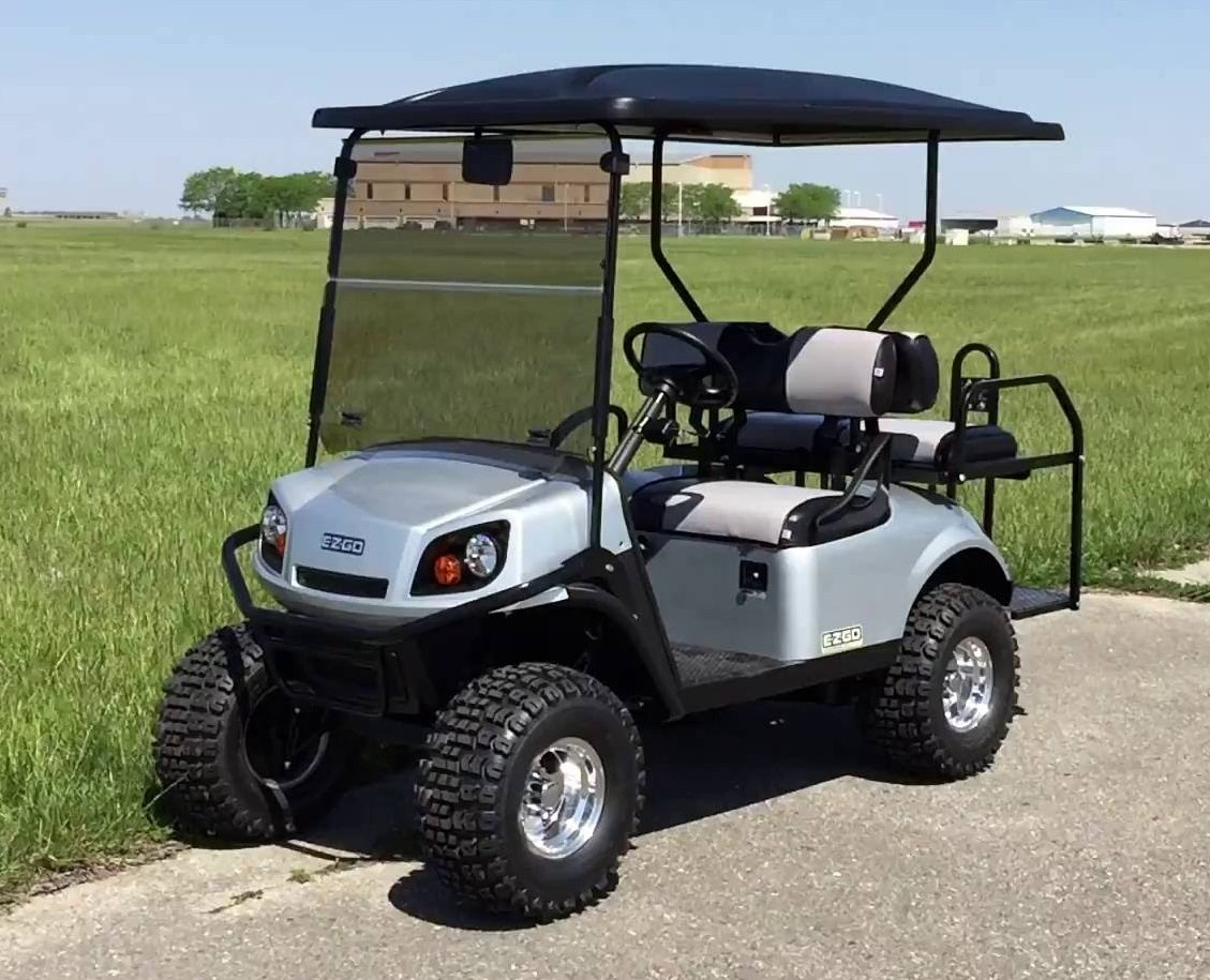 EZGO Express S4 Tinted Fold Down Impact Resistant Windshield for EZGO Express S4 Golf Cart