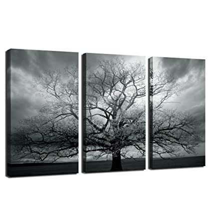 amazon com winter large tree photography print abstract canvas