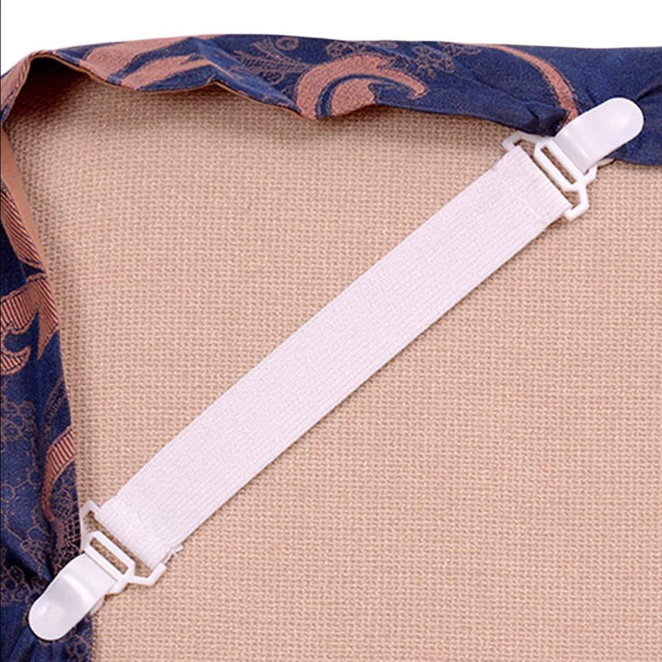LasVogos Clip di Fissaggio per Fascia Elastica 4 x 20cm Lenzuolo fermacravatte Clip Fissa