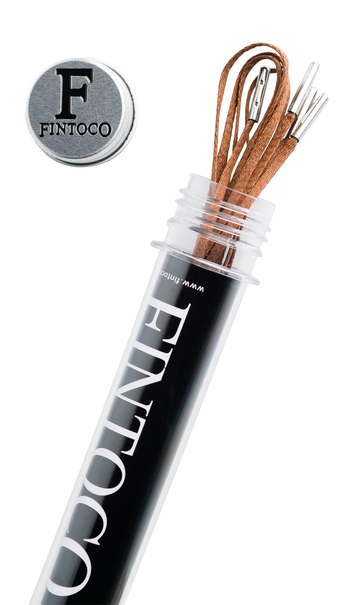 Flat Waxed Thin Dress Shoelaces with Silver Tips 30 Inches Brown
