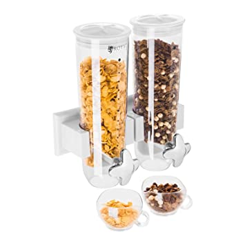 Royal Catering - RCCS-3L/2W - Dispensador de cereales 2 contenedores - 3