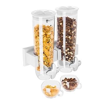 Royal Catering - RCCS-3L/2W - Dispensador de cereales 2 contenedores - 3 l - Envío Gratuito: Amazon.es: Hogar