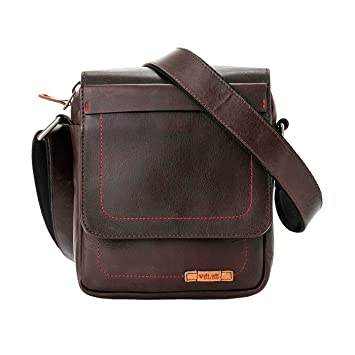 Amazon.com | VÉLEZ 20555 Men Genuine Leather Crossbody Bag | Bandolera De Cuero Coffee | Backpacks