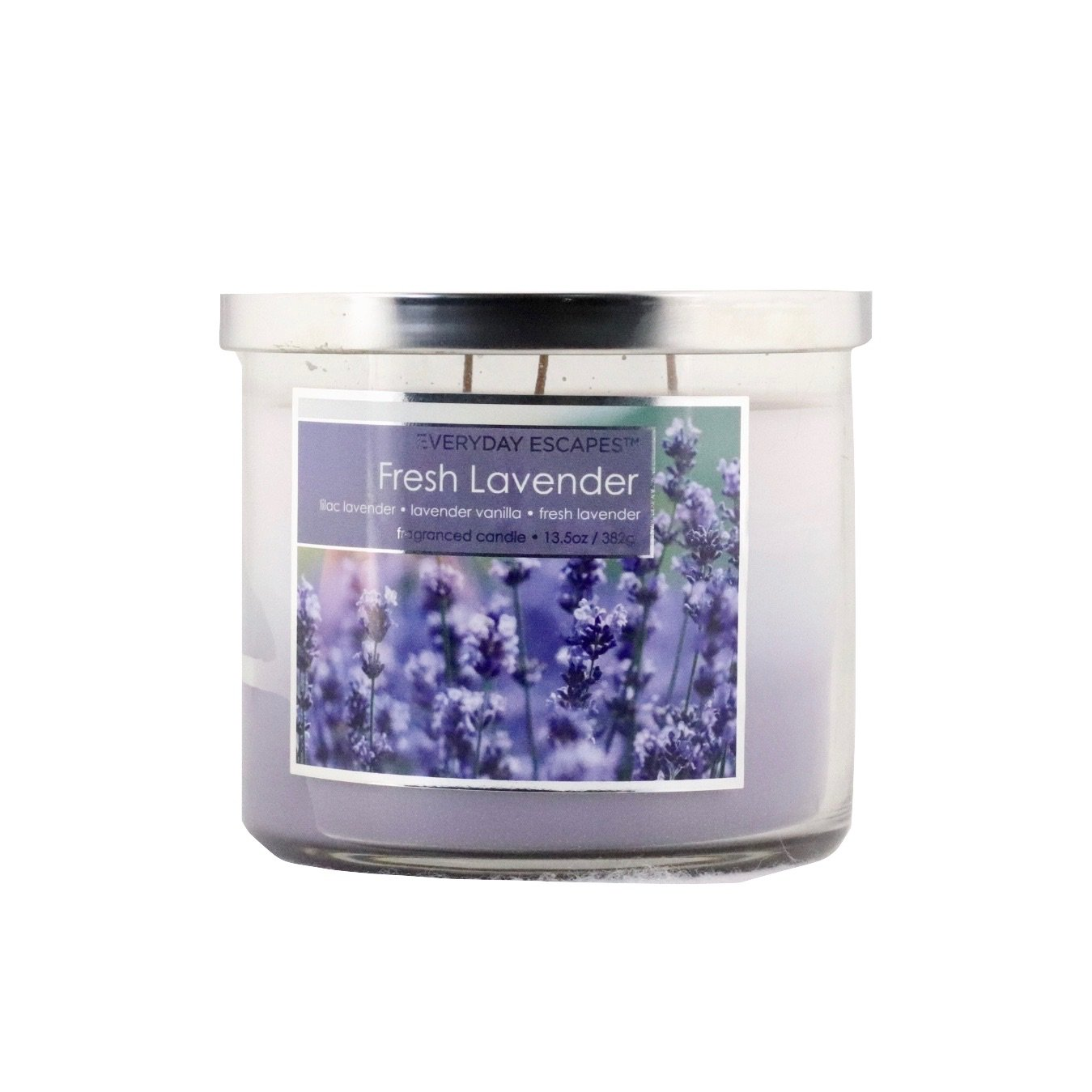 Everyday Escapes by MVP Group Scented Tri-layer Triple Wicks Candle 13.5 oz -Fresh Lavender Lilac Lavender/Lavender Vanilla/Fresh Lavender by Everyday