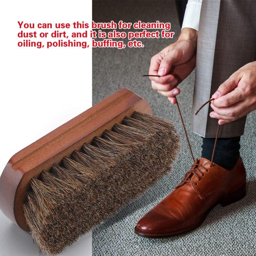 Brosse Chaussure /à chaussures Polissage Polissage Brosse de nettoyage avec base en bois Accessoire pour chaussures de d/époussi/érage Brosse /à cirage professionnelle pour chaussures