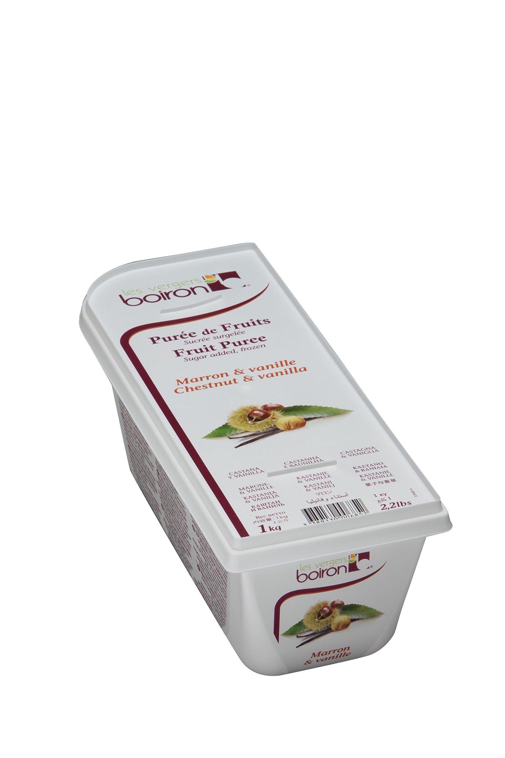 Chestnut and Vanilla Puree - Frozen - 50% Fruit - 2.2Lbs - Kosher