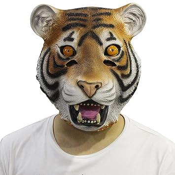 94666913b81 Cusfull novedad de lujo de látex de caucho espeluznante arriba mágico  completo Máscara Halloween disfraces disfraz