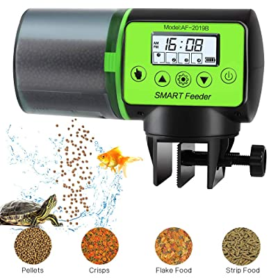 PETRIP Automatic Fish Feeder Programmable Moisture-Proof Electric Auto Fish Food