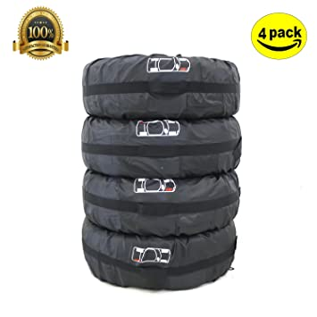 ELR 80cm Fundas para Neumáticos de Ruedas Recambio Cubierta Caso Protector Bolsas de Almacenaje Neumáticos Pequeños Spare Tire Tote Cover de ...