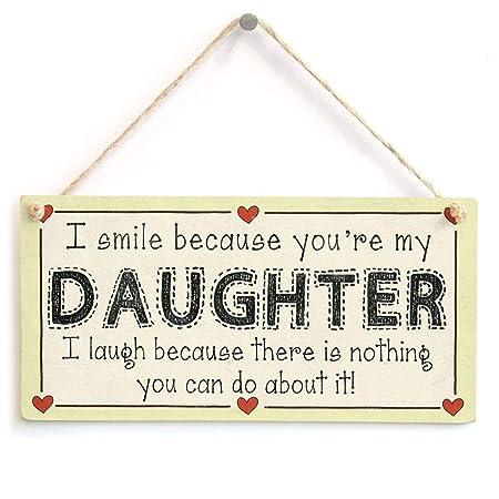 Smile You Are My Daughter Cartel de Madera Arte decoración ...