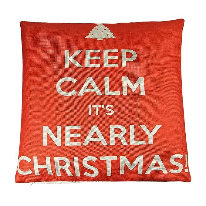 Amazon.com: Papá Noel funda de almohada Navidad Hogar ...
